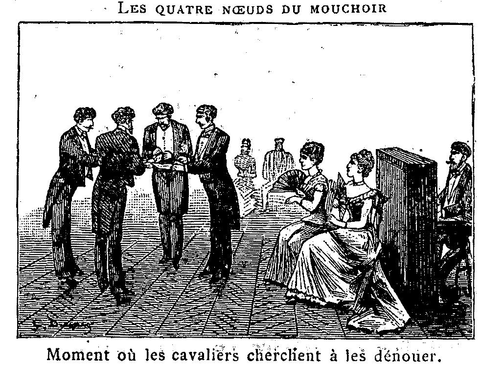 Figure de cotillon 19e siècle avec accessoire facile mouchoir