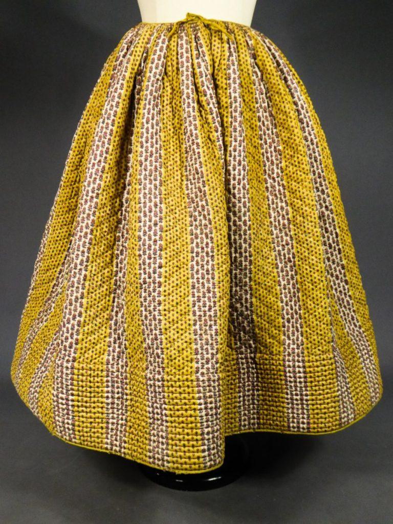 Cotillon jupon danse 18e siècle