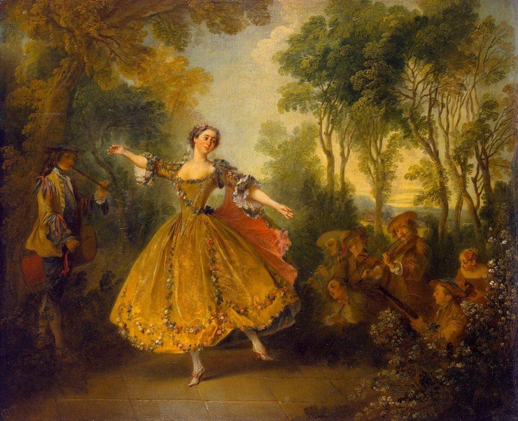 Nicolas Lancret, La Camargo dansant, 1730-1731. Marie-Anne de cupis de camargo, danseuse baroque, menuet