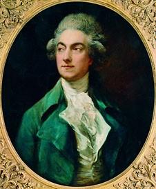 Thomas Gainsborough, Portrait d'Auguste Vestris, 1781. Dansuer baroque, menuet