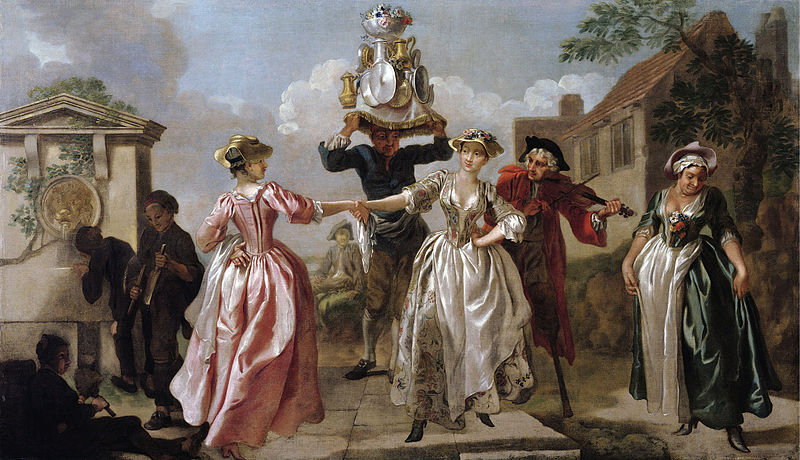 Contredanse danse 18e siècle baroque violon danseuse