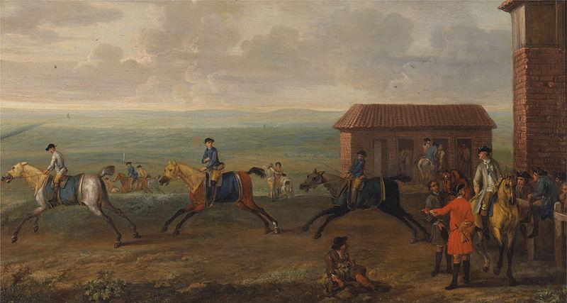 course de chevaux en 1735 à Newmarket Hambleton, rival de Hambleton