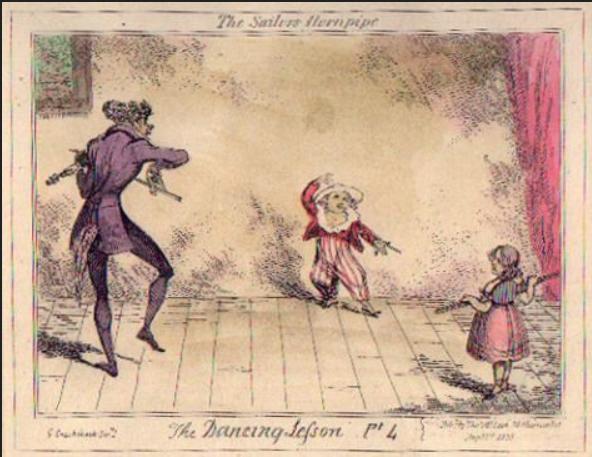 Leçon de danse regency ou premier empire. échauffement. sailor hornpipe