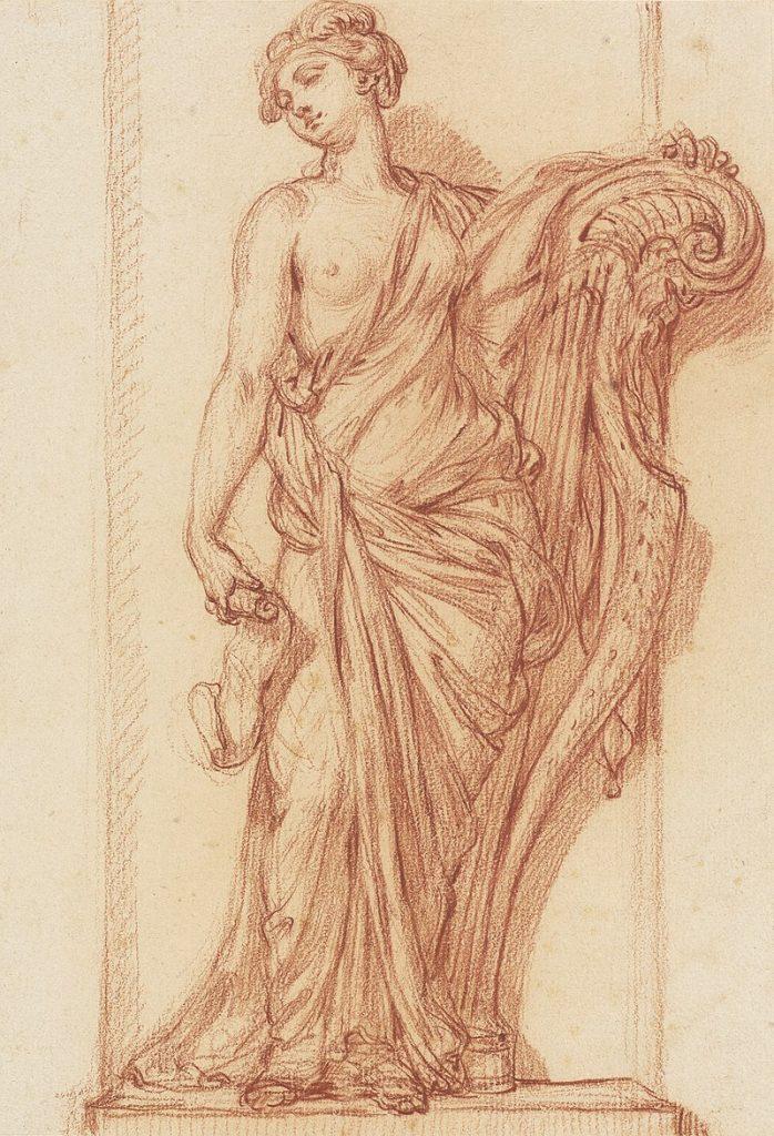 Terpsichore, muse de la danse, et sa harpe