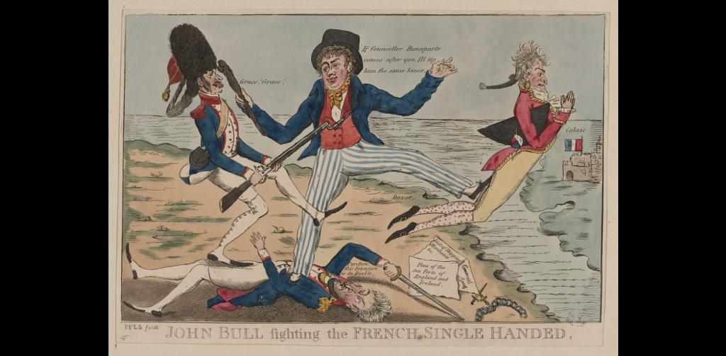 John Bull combat les Français à une seule main et menace Bonaparte