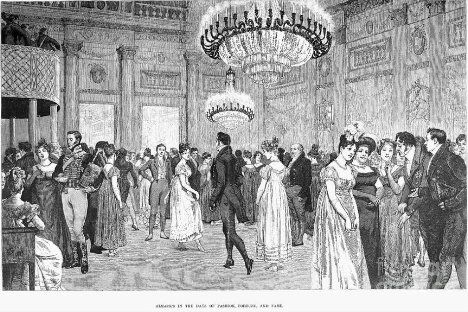 Bal au Almack's pendant la régence anglaise