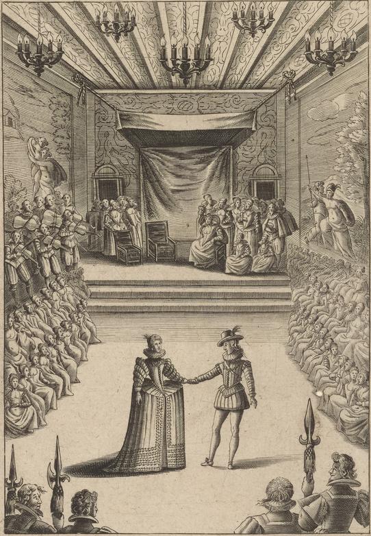 Louis XIII dansant au Louvre avec Anne d'Autriche. Bal baroque, menuet, courante, chaconne, passacaille gigue